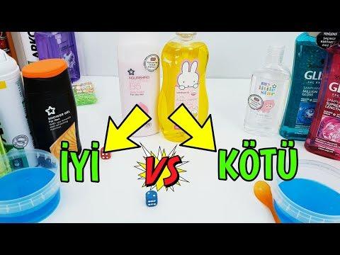 İyi vs Kötü Malzeme Slime Challenge - Good vs Bad Metarial Slime Challenge - Vak Vak TV