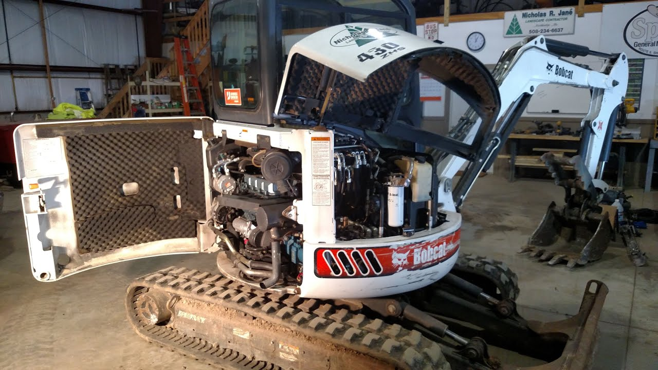 How To Change Oil On Bobcat Excavator Youtube