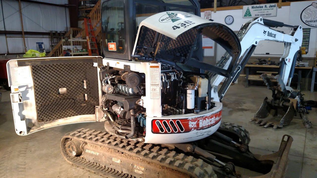 843 Bobcat Wiring Diagram How To Change Oil On Bobcat Excavator Youtube