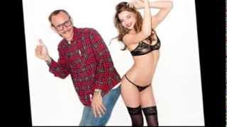 Miranda Kerr in Black See-Through Bra For Controversial Photographer Terry Richardson