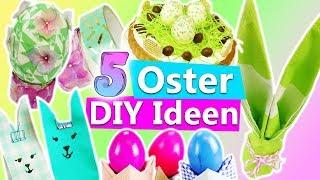 5 tolle DIY IDEEN für OSTERN | Osterdeko selber machen: Tischdeko, Ostereier bemalen, Kuchen backen