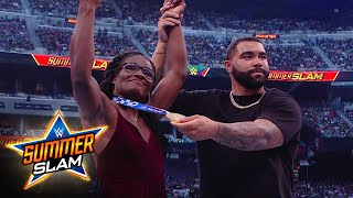 Gold medalists Gable Steveson and Tamyra Mensah-Stock recognized at SummerSlam: SummerSlam 2021