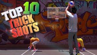 TOP 10 RARE TRICK SHOTS & GAME WINNERS - NBA 2K18 Highlights