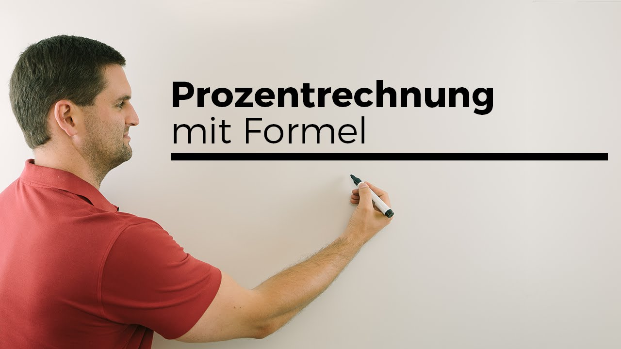 prozentrechnung mit formel p w und g mathe by daniel jung youtube. Black Bedroom Furniture Sets. Home Design Ideas