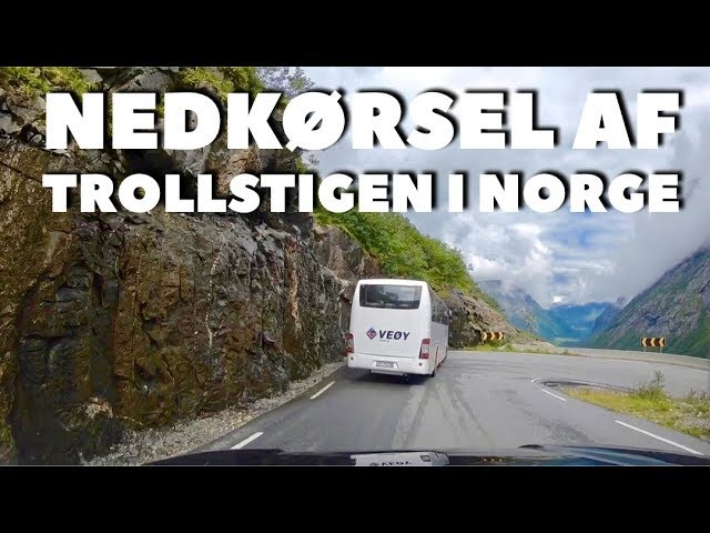 Nedkørsel på Trollstigen - se hele turen i et langt klip
