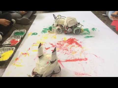 Lego Mindstorms abstract painters.