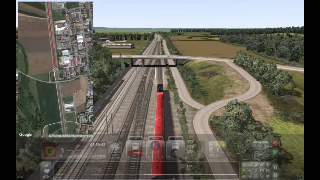 Train Simulator 2016 Augsburg to Starnberg with Train Maps Live