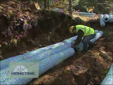 Gravel Less Drain Field For Septic System Youtube