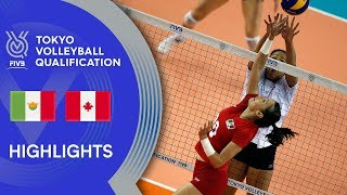 MEXICO vs. CANADA - Highlights Women | Volleyball Olympic Qualification 2019