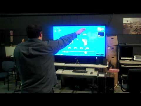 Primesense Space Invaders Arm movement controlled.mpg