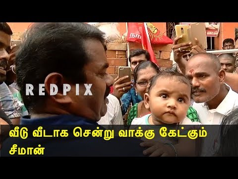 naam tamilar seeman door to door campaign @ rk nagar - seeman latest speech | seeman | tamil news live, tamil news today tamil, latest tamil news redpix  tamil news today   Naam Thamizhar Katchi (NTK) headed by Senthamizhan Seeman is seeking to prove its strength in the upcoming rk nagar election, where its top brass flaunt their fiery oratorical skills, reminiscent of the early days of DMK when its leaders like Annadurai and Karunanidhi used alliterations effectively in their political speeches to woo the masses. Naam tamilar katchi had staged kalaikotuu udhyan as their candidate for rk nagar election, today seeman took part in the door to door campaign, he went on the streets of rk nagar to fetch votes for naam tamilar katchi.    For More tamil news, tamil news today, latest tamil news, kollywood news, kollywood tamil news Please Subscribe to red pix 24x7 https://goo.gl/bzRyDm red pix 24x7 is online tv news channel and a free online tv #rknagar