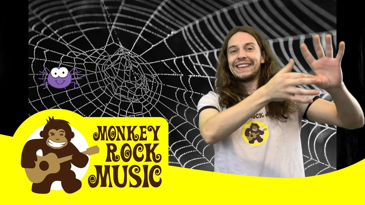 The Itsy Bitsy Spider Monkey Rock Music Kids Dance Songs Nursery Rhymes Youtube