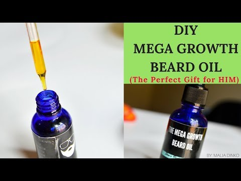 DIY BEARD OIL For COARSE and CURLY HAIR || AFRO