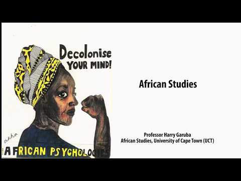 African Studies, Prof Harry Garuba