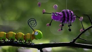 Caterpillar Shoes - Fun Insect Animation - Kids
