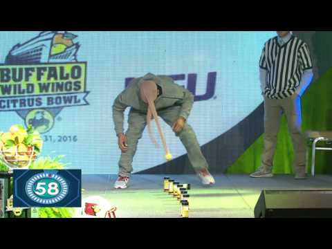 LSU and Louisville Players Compete at the Buffalo Wild Wings Citrus Bowl Kickoff Luncheon