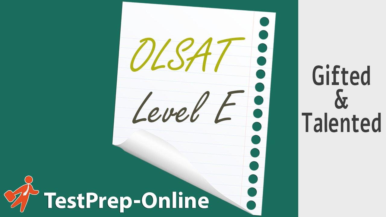 hight resolution of OLSAT Test Prep - 4th \u0026 5th Grade - YouTube