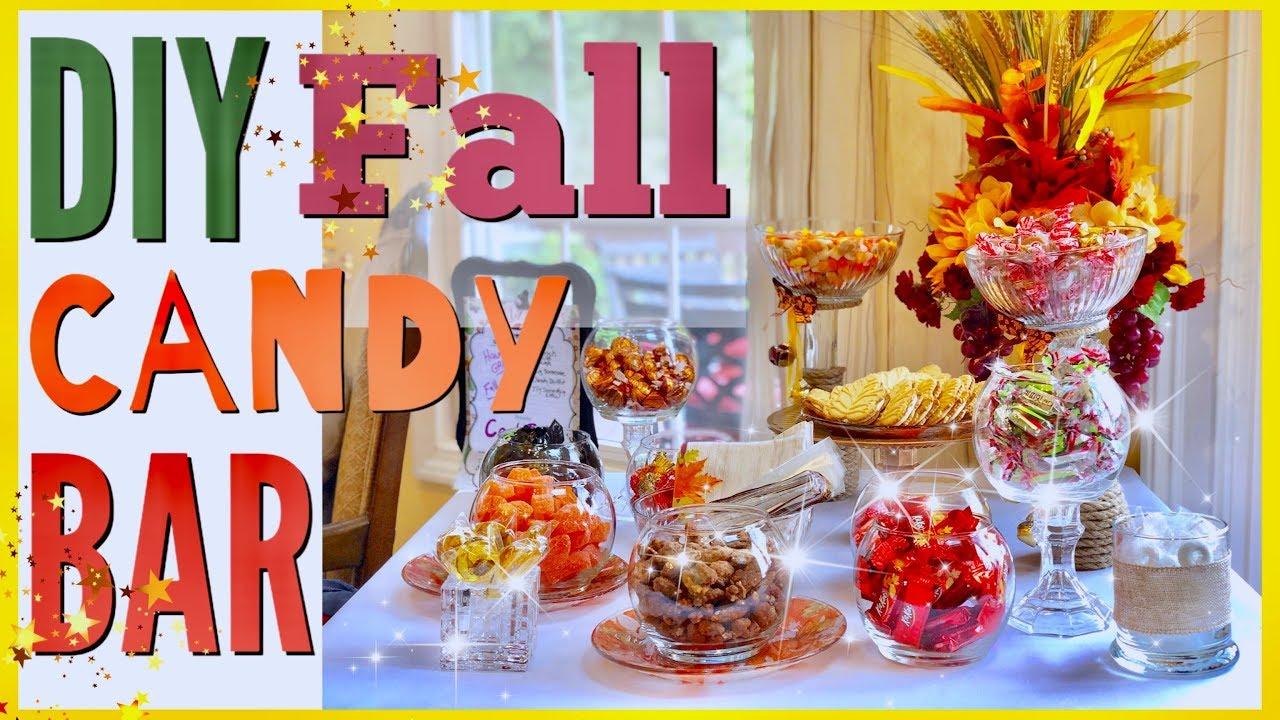 5 Tips For A Candy Buffet Fall Bar Ideas Youtube