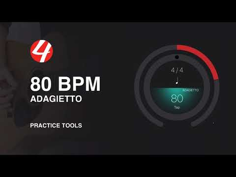 80 BPM (Beats Per Minute) 4/4 Metronome Click Practice Track | Music Lessons