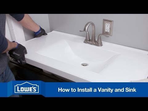 How To Install A Bathroom Vanity YouTube - Replacing bathroom vanity