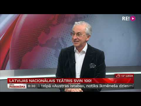 Latvijas Nacionālais teātris svin 100! Intervija ar Ojāru Rubeni