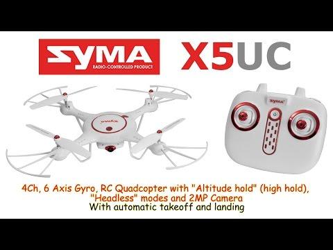 Професионален Квадрокоптер SYMA X5UC 4CH RC с HD камера Батерия 3.7 V 500 mAh 13