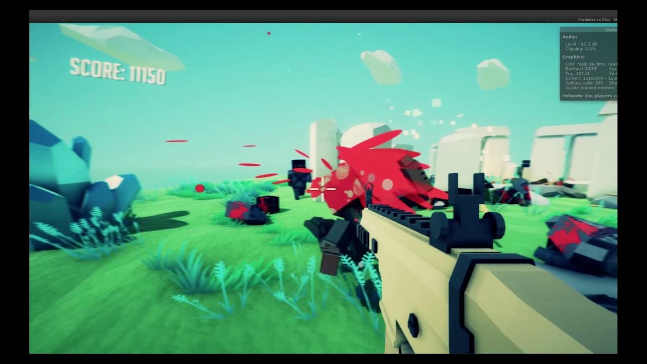 Unity3D Low-poly VR FPS Gameplay #2