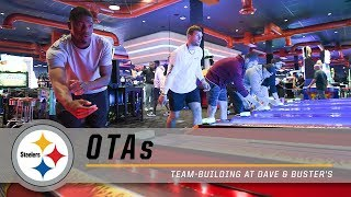 T.J. Watt, Joe Haden & the Steelers Get Competitive Playing Games at Dave & Buster's