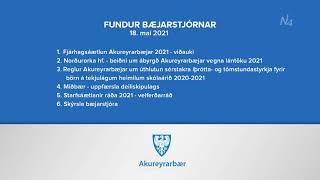 Fundur bæjarstjórnar 18. maí 2021