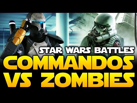 COMMANDOS vs ZOMBIE DEATH TROOPERS! Star Wars Battles! (SW Galaxy at War Gameplay) | Star Wars HQ