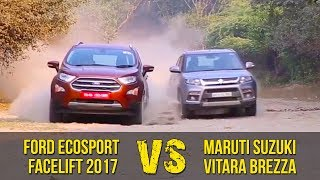 Ford EcoSport Facelift Vs Maruti Suzuki Vitara Brezza | Clash Of The Titans