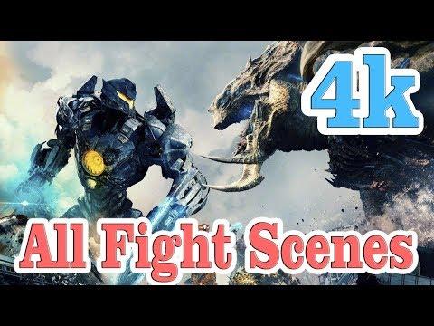 Pacific Rim 2: Uprising | Kaiju vs Jaeger All Fight Scenes [4K] thumbnail