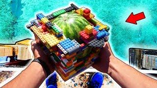 Защитит ли LEGO АРБУЗ при ПАДЕНИИ с 10го ЭТАЖА.?!