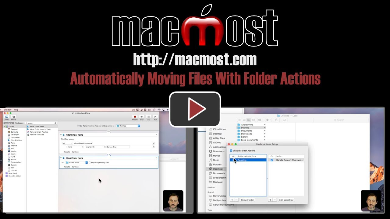 Automatically Moving Files With Folder Actions