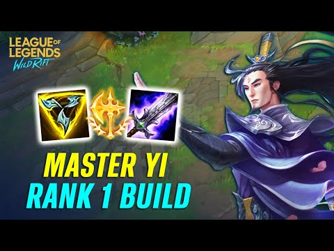 IS BEST BUILD FOR MASTER YI IN WILD RIFT?   Top 1 Sever Jungle Build (Full Guide Gameplay)