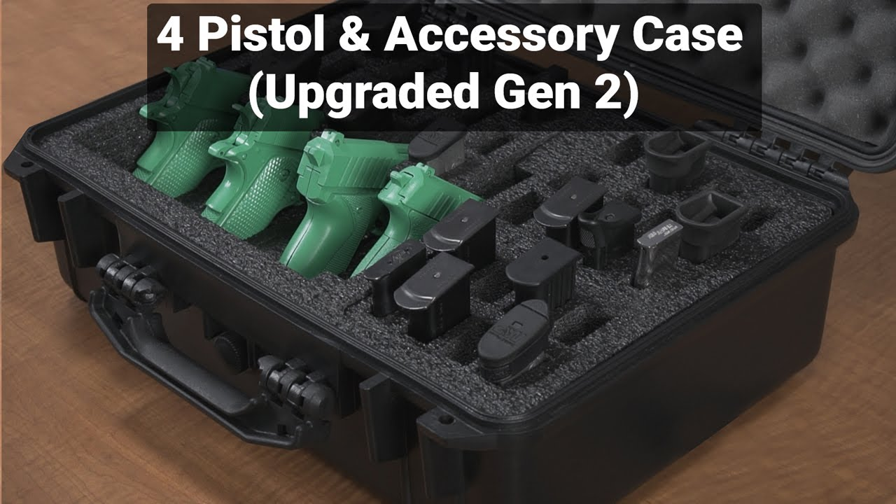 Case Club 4 Pistol & Accessory Case (Upgraded Gen 2) - Overview - Video