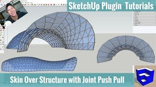 Video Modeling Building Skin Over Structure in SketchUp with Joint Push Pull and Curviloft download MP3, 3GP, MP4, WEBM, AVI, FLV Desember 2017