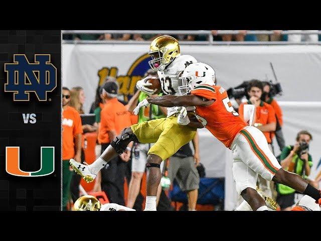 Notre Dame vs. Miami Football Highlights (2017)
