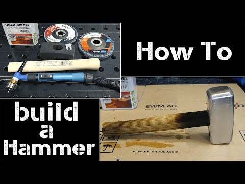 How to make a steel copper hammer | TIG brazing DIY
