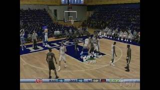 College Hoops 2K6 Xbox 360 Gameplay - Draw The Foul
