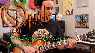 Opeth Windowpane (Damnation) guitar solo lesson   Weekend Wankshop 244