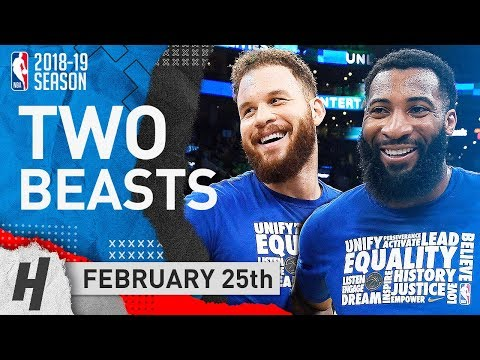 Andre Drummond & Blake Griffin Triple-Double Highlights Pistons vs Pacers 2019.02.25 - TOO SICK!