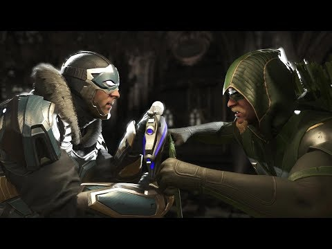 Injustice 2 : Captain Cold Vs Green Arrow - All Intro/Outros, Clash Dialogues, Super Moves
