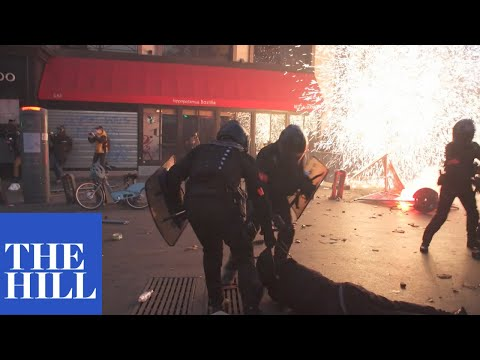RIOTS IN FRANCE: Police clash with protesters against controversial security bill