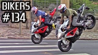BIKERS #134 - Superbikes WHEELIES, BURNOUTs, RL's & Hard Accelerations on the Streets!