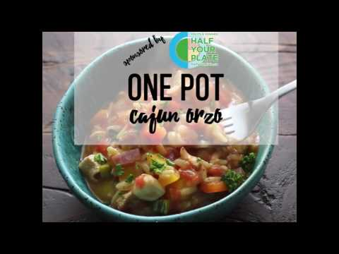 One Pot Healthy Cajun Chicken Orzo