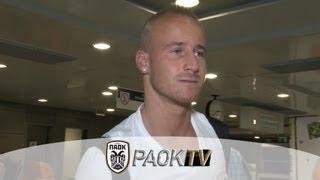 Οι πρώτες στιγμές του Στοχ στην Θεσσαλονίκη - PAOK FC