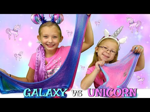 Galaxy slime vs unicorn slime challenge diy viral slimes tested today we are testing 2 viral slime recipes galaxy slime vs unicorn slime you will learn how to make the most satisfying do it yourself galaxy slime and ccuart Choice Image