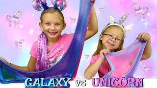 GALAXY Slime vs UNICORN Slime Challenge!!! DIY Viral Slimes Tested!!!