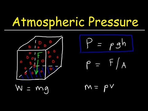 Atmospheric Pressure Problems - Physics & Fluid Statics